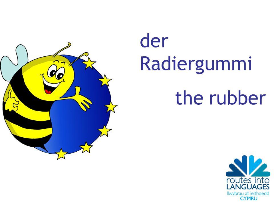 der Radiergummi the rubber