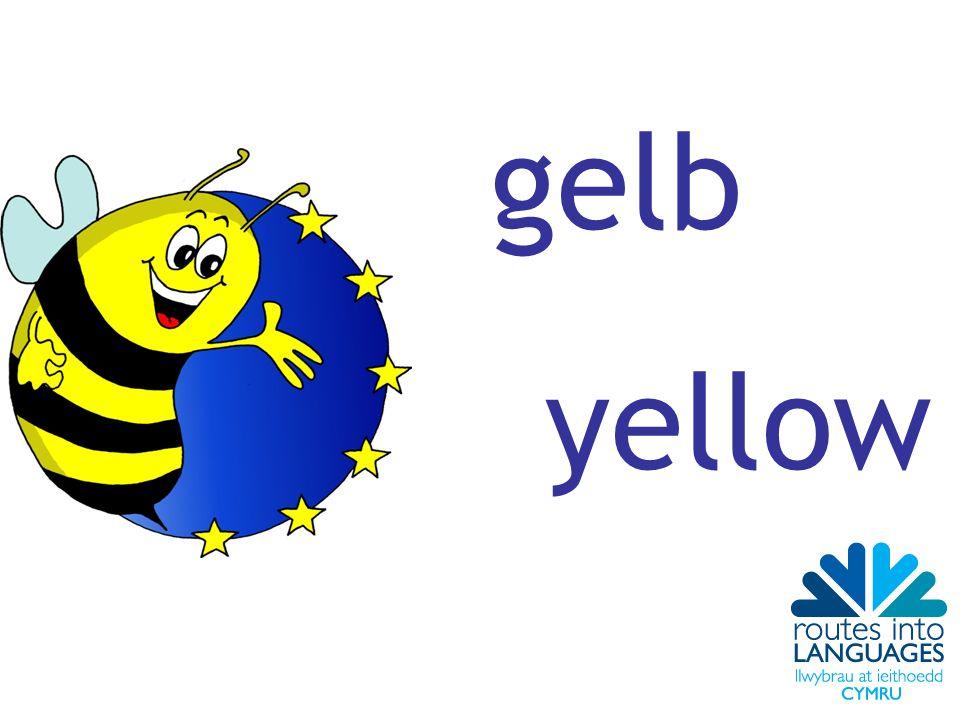 gelb yellow