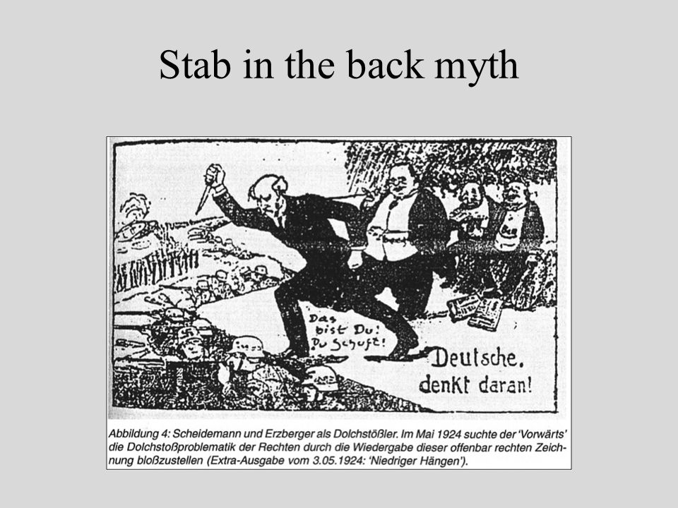 Stab in the back myth