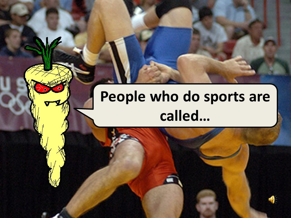Handy Sports Vocab 2 Sports People with Mr. Evil, Very Evil Parsnip-Face