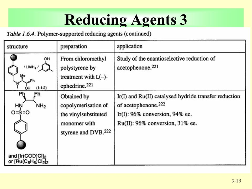 3-15 Reducing Agents 2