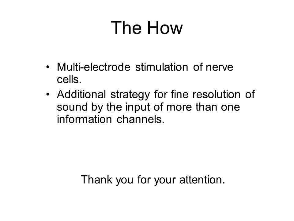 The How Multi-electrode stimulation of nerve cells.