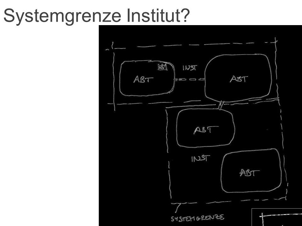 Systemgrenze Institut?