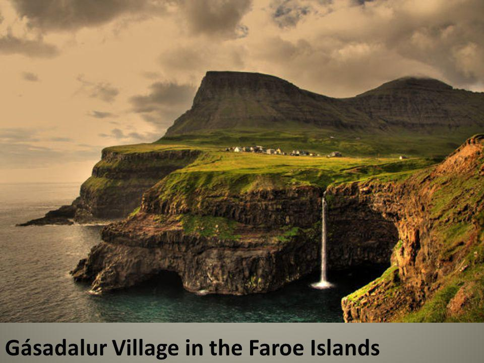 Gásadalur Village in the Faroe Islands