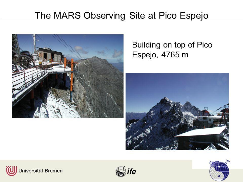 The MARS Observing Site at Pico Espejo Building on top of Pico Espejo, 4765 m