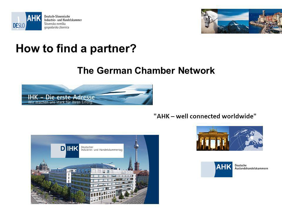 How to find a partner The German Chamber Network AHK – well connected worldwide