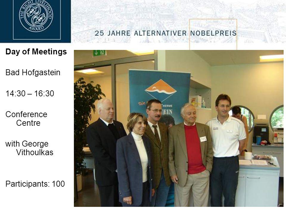 Day of Meetings Bramberg 15:00 – 17:00 Village walk with Tapio Mattlar John F.C. Turner
