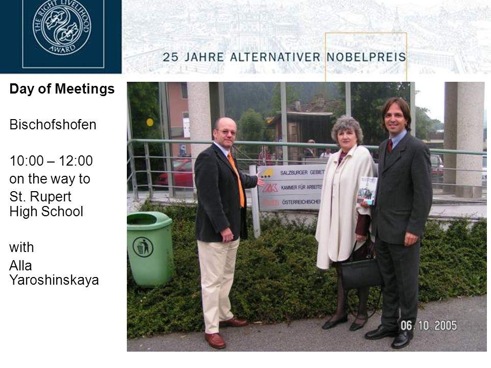 Day of Meetings Bischofshofen 10:00 – 12:00 St.