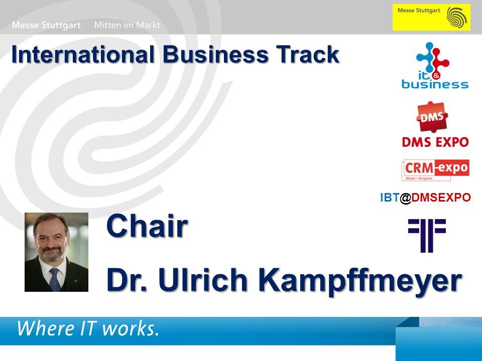 1 BigData AnalyticsPanel-Diskussion DMS EXPO 2013Moderation Dr. Joachim Hartmann International Business Track Chair Dr. Ulrich Kampffmeyer IBT@DMSEXPO