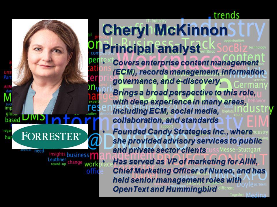 18 BigData AnalyticsPanel-Diskussion DMS EXPO 2013Moderation Dr. Joachim Hartmann Cheryl McKinnon Principal analyst Covers enterprise content manageme