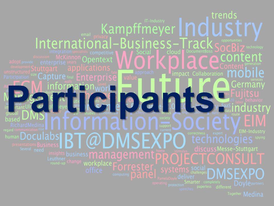 9 BigData AnalyticsPanel-Diskussion DMS EXPO 2013Moderation Dr. Joachim Hartmann Participants: