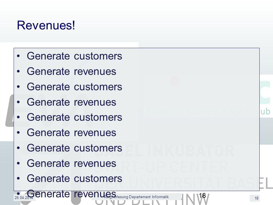 18 Revenues.