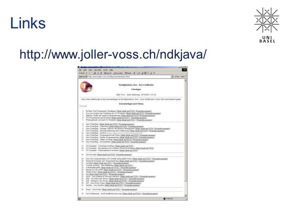 Links http://www.joller-voss.ch/ndkjava/