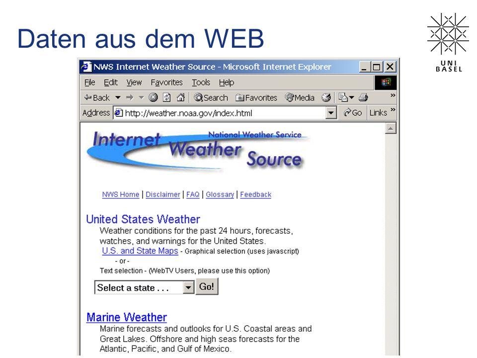 Daten aus dem WEB