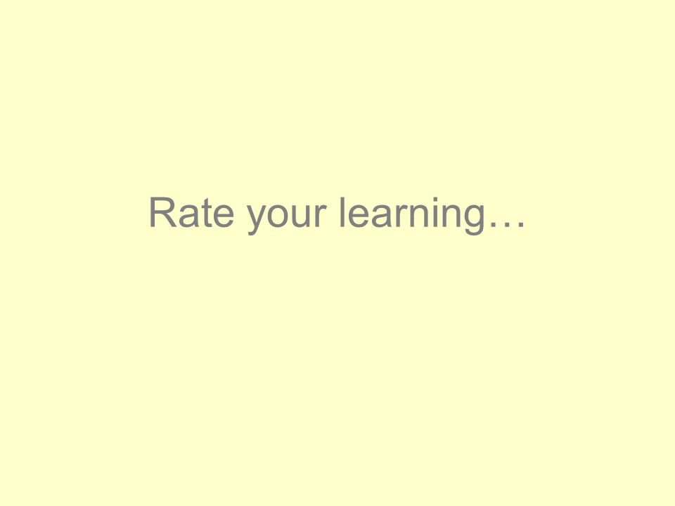 Rate your learning…