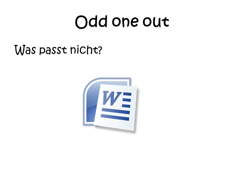 Odd one out Was passt nicht?