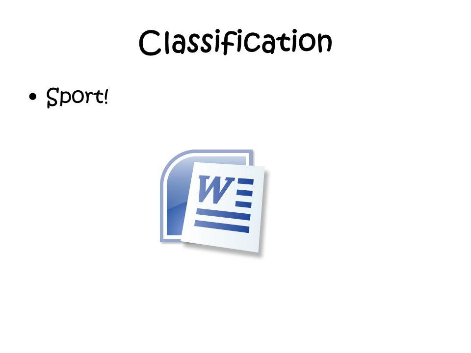 Classification Sport!