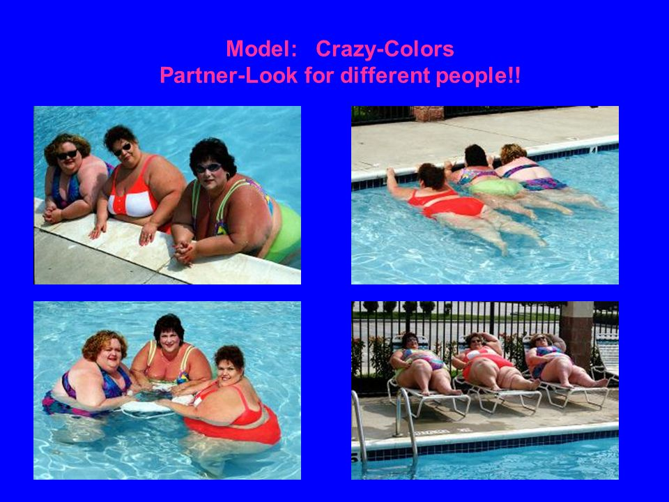 Model: Crazy-Colors Partner-Look for different people!!