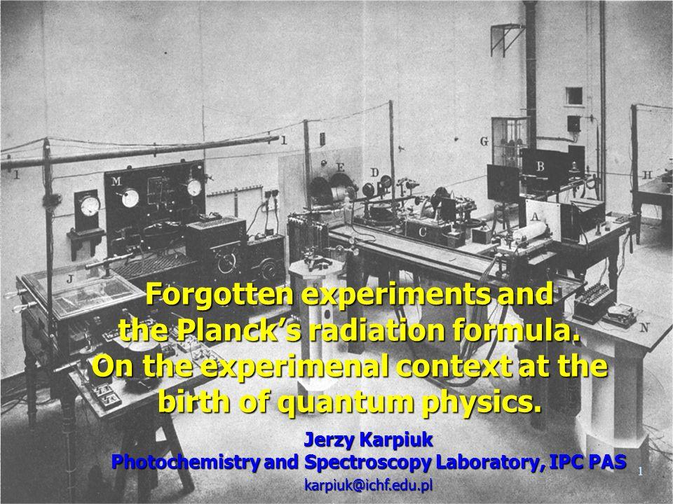 22 J.Stefan (1879) + L. Boltzmann (1884) = Stefan-Boltzmann law W.