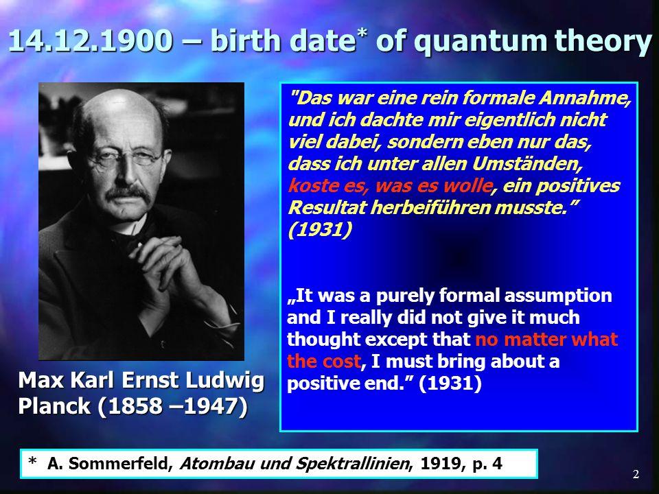 33 Equations Planck (Oct.19, 1900) Wien (PTR, 1896) Lummer & Pringsheim (PTR, Feb.