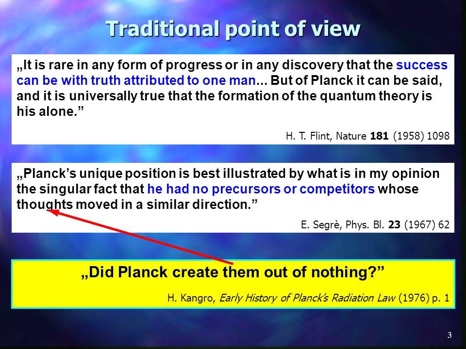 4 Plancks opinion...M.