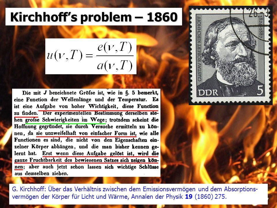 28 Precision measurements of black body spectrum Tests of Wien energy distribution law (since 1899 - Wien-Planck e.d.l.) Spectrobolometer