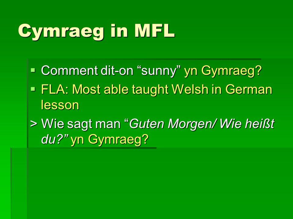 Cymraeg in MFL Comment dit-on sunny yn Gymraeg. Comment dit-on sunny yn Gymraeg.