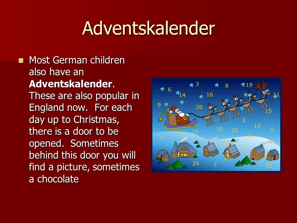 St.Niklaus On the eve of the 6th December, German children are visited by St.