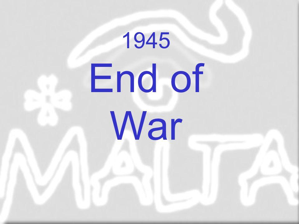 1945 End of War End of war