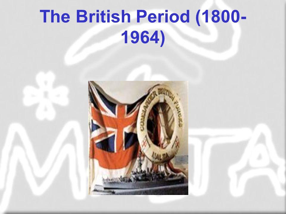 The British Period (1800- 1964)