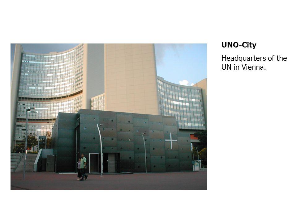 UNO-City Headquarters of the UN in Vienna.