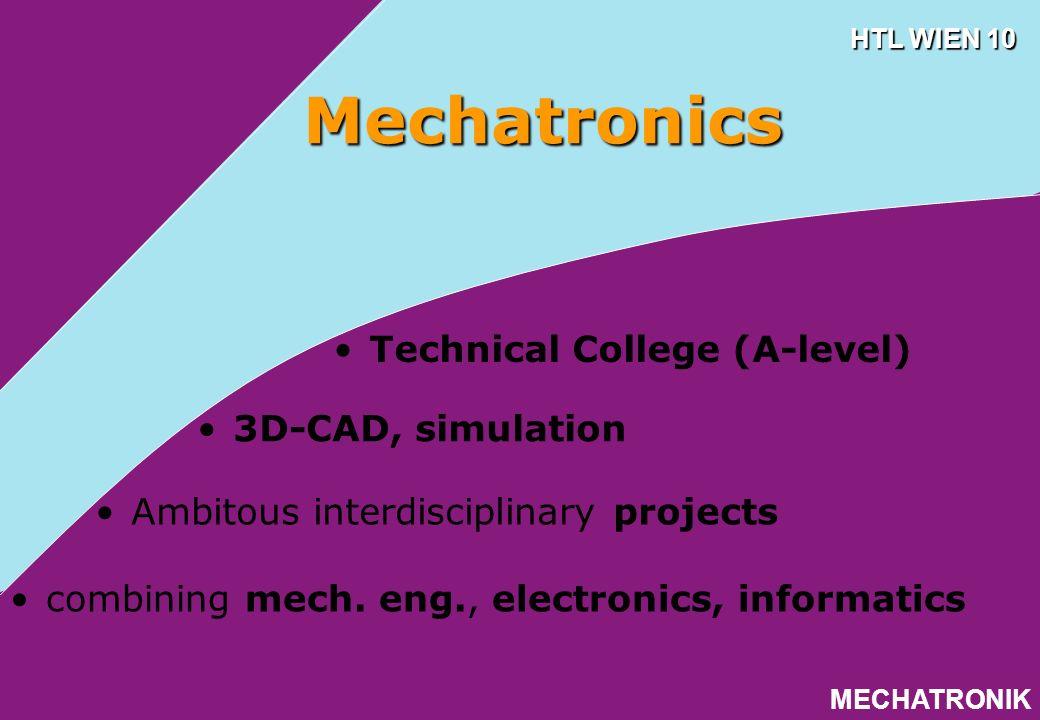 ELEKTRONIK HTL WIEN 10 Electronics Technical College (B-level) Informatics Tech.