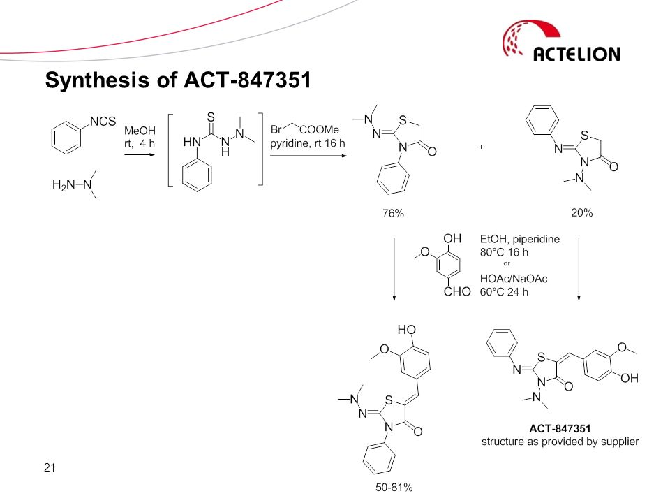 Synthesis of ACT-847351 21