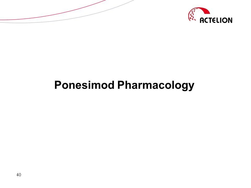 Ponesimod Pharmacology 40
