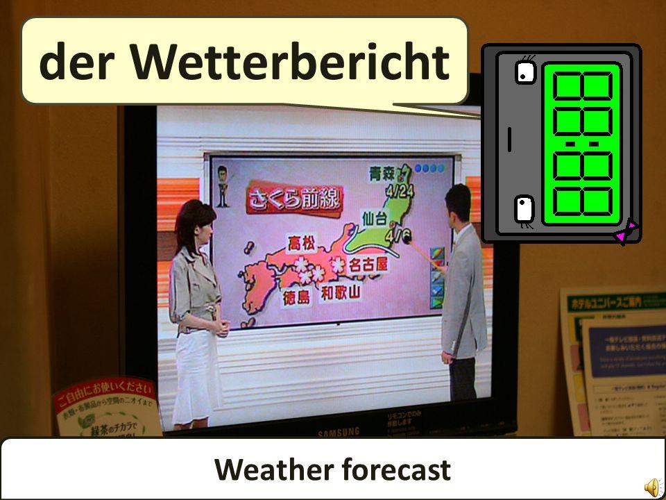 Weather forecast der Wetterbericht