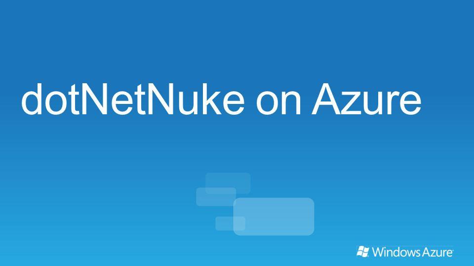dotNetNuke on Azure