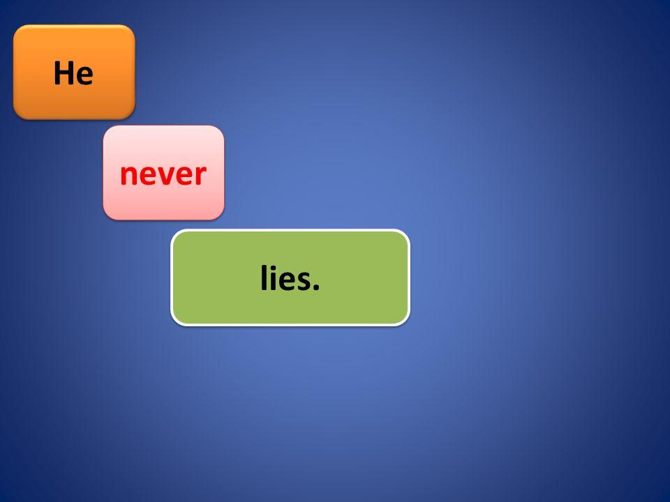 He lies. never