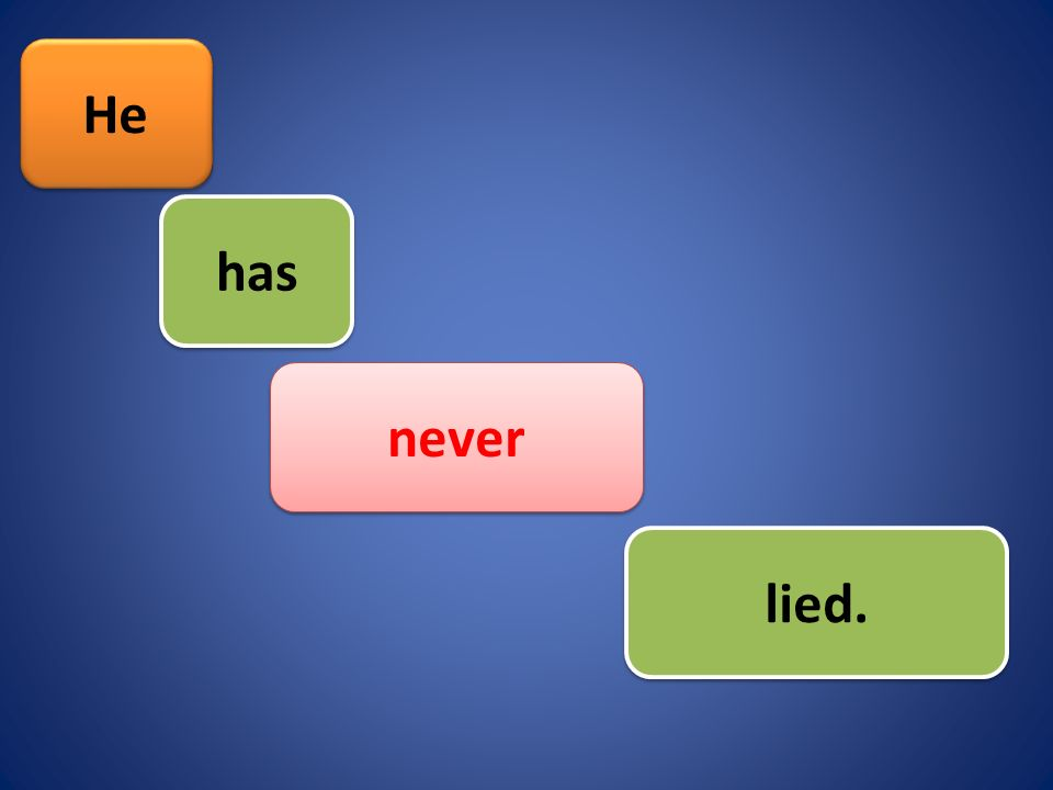 He lied. never has