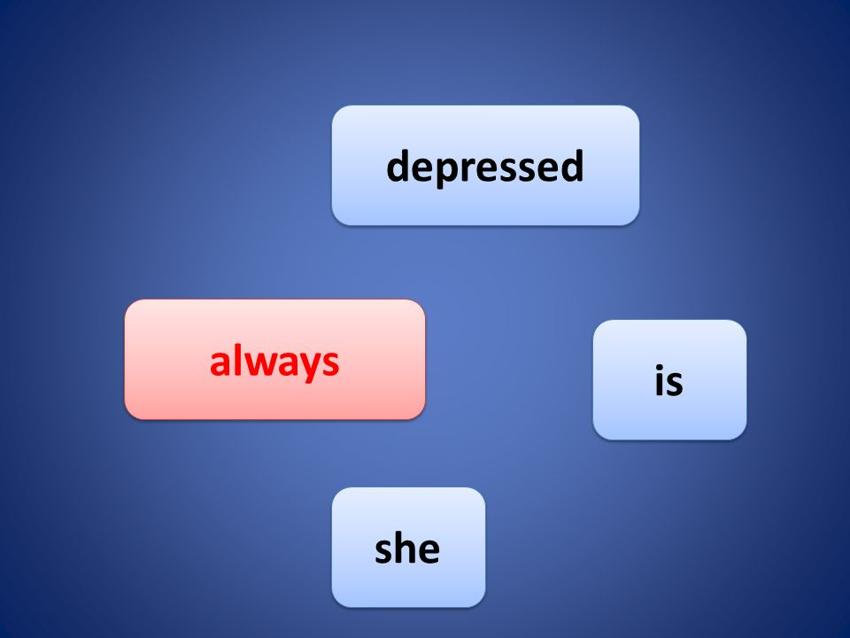 she depressed always is