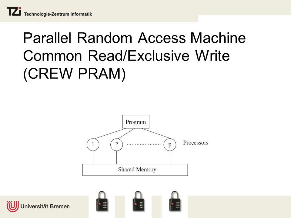 Parallel Random Access Machine Common Read/Exclusive Write (CREW PRAM)