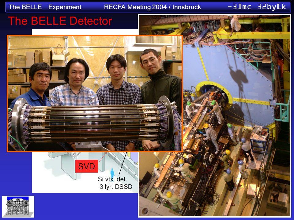 The BELLE Experiment RECFA Meeting 2004 / Innsbruck -3]mc 32by[k SVD The BELLE Detector
