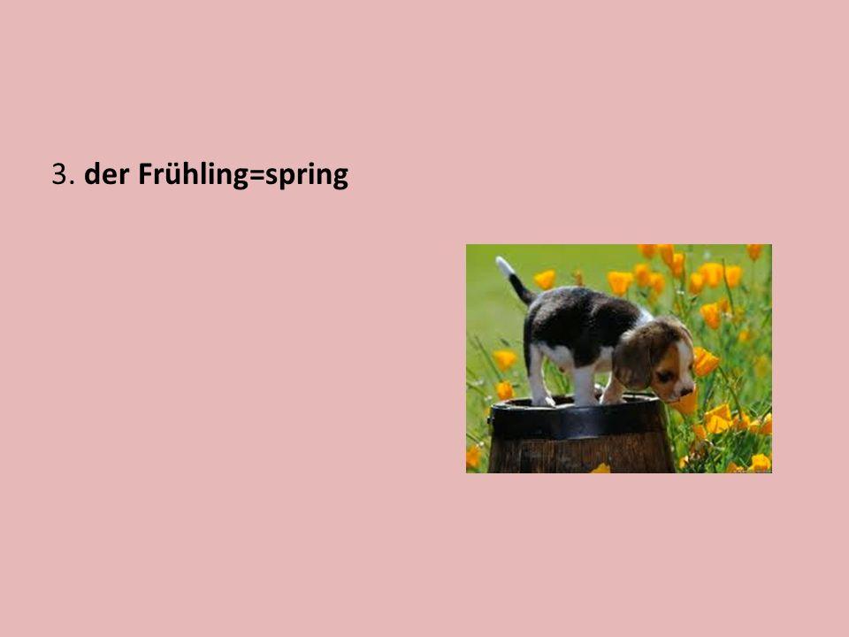 3. der Frühling=spring