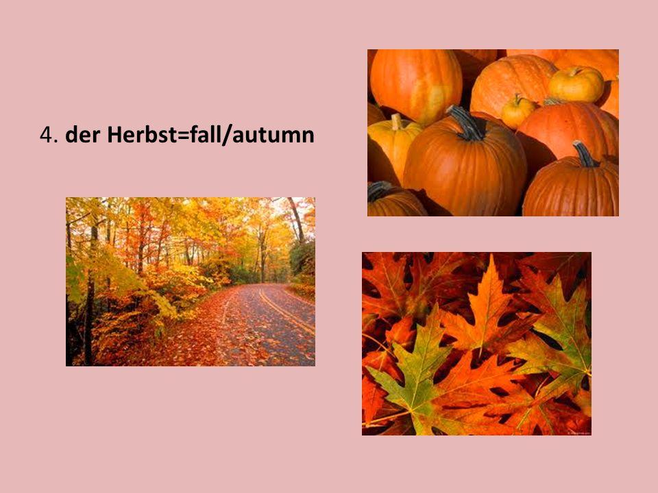 4. der Herbst=fall/autumn