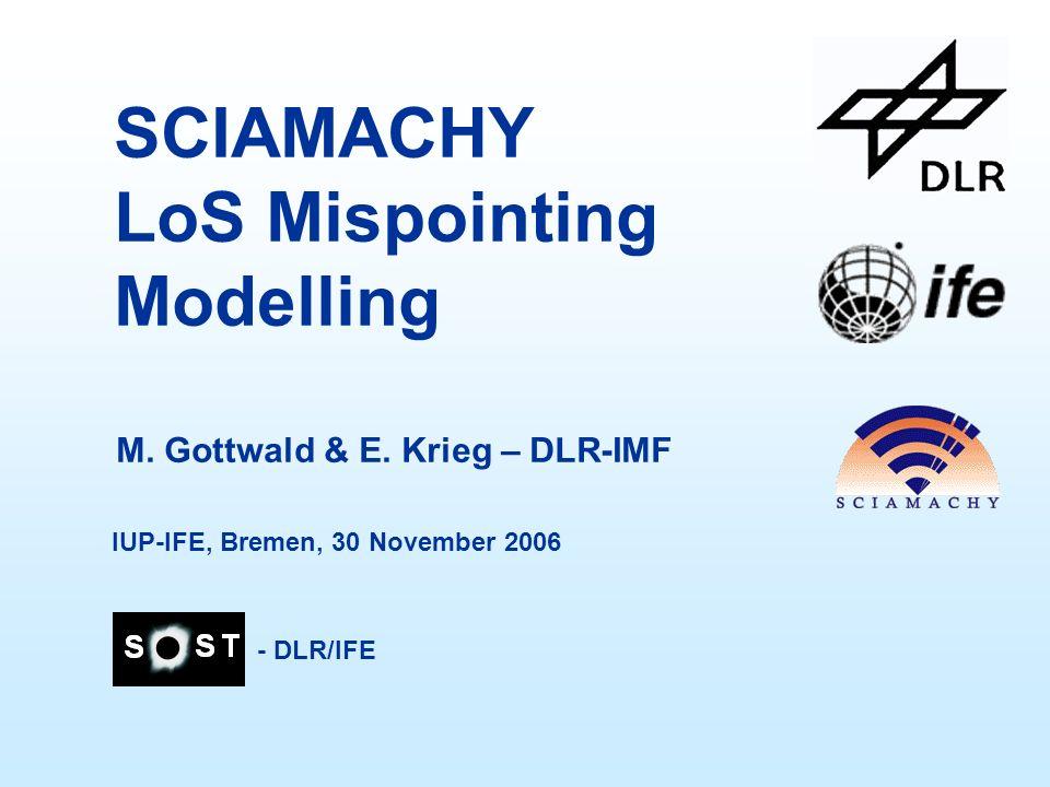 SCIAMACHY LoS Mispointing Modelling M. Gottwald & E.