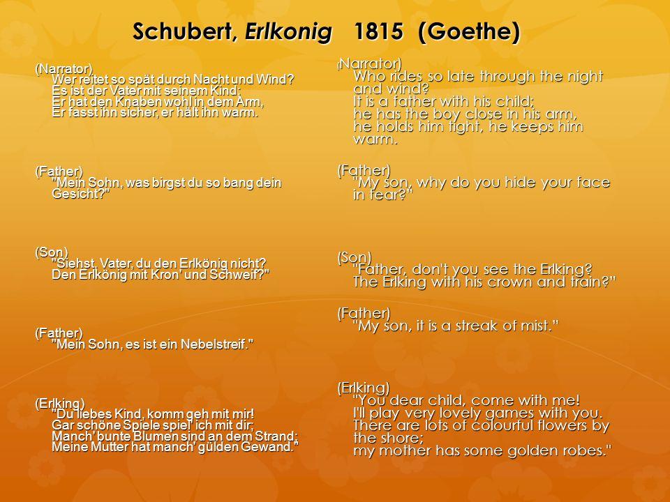 Schubert, Erlkonig 1815 (Goethe) (Narrator) Wer reitet so spät durch Nacht und Wind.