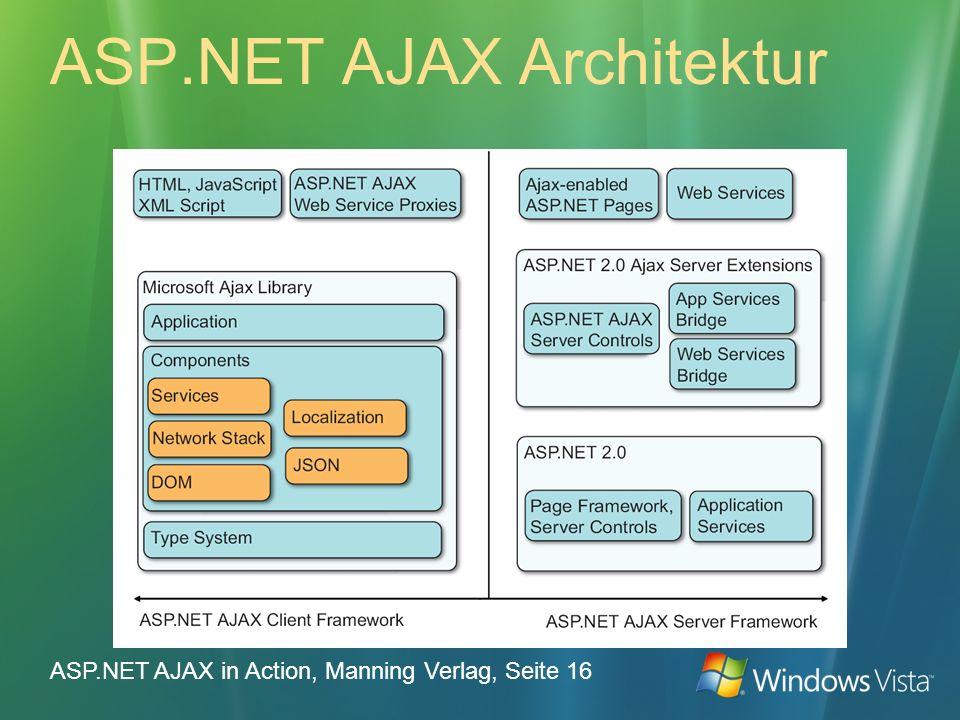 ASP.NET AJAX Architektur ASP.NET AJAX in Action, Manning Verlag, Seite 16