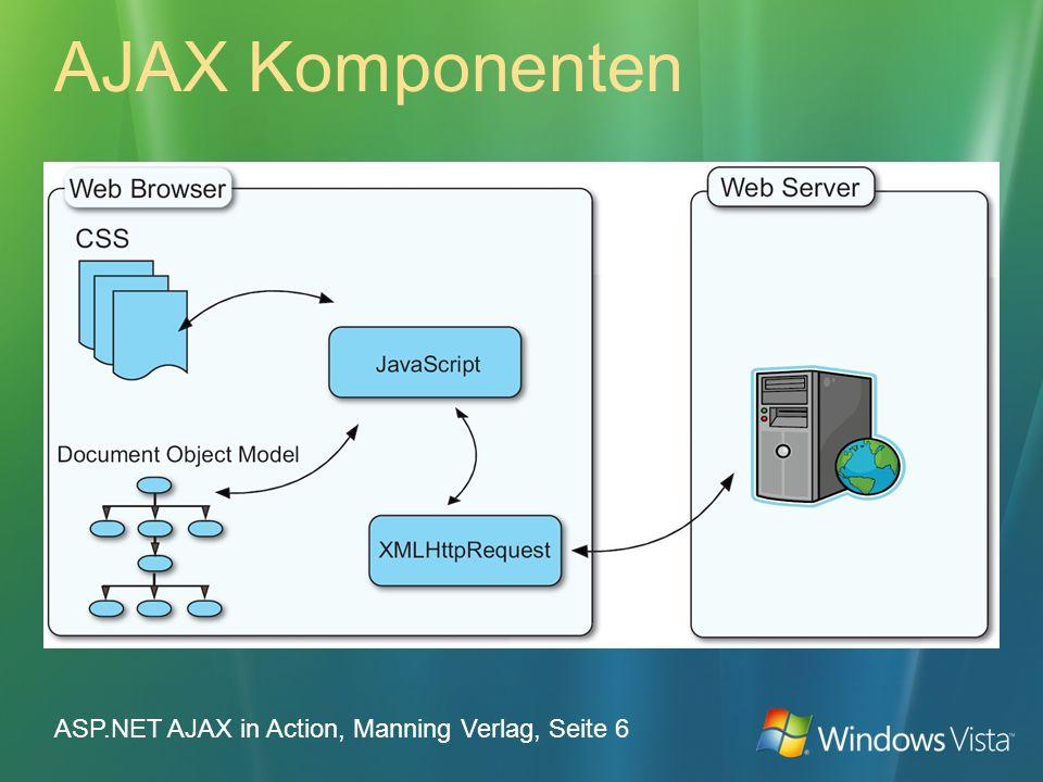 AJAX Komponenten ASP.NET AJAX in Action, Manning Verlag, Seite 6