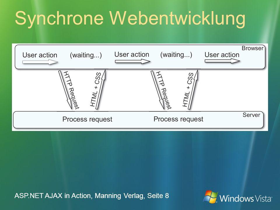 Synchrone Webentwicklung ASP.NET AJAX in Action, Manning Verlag, Seite 8
