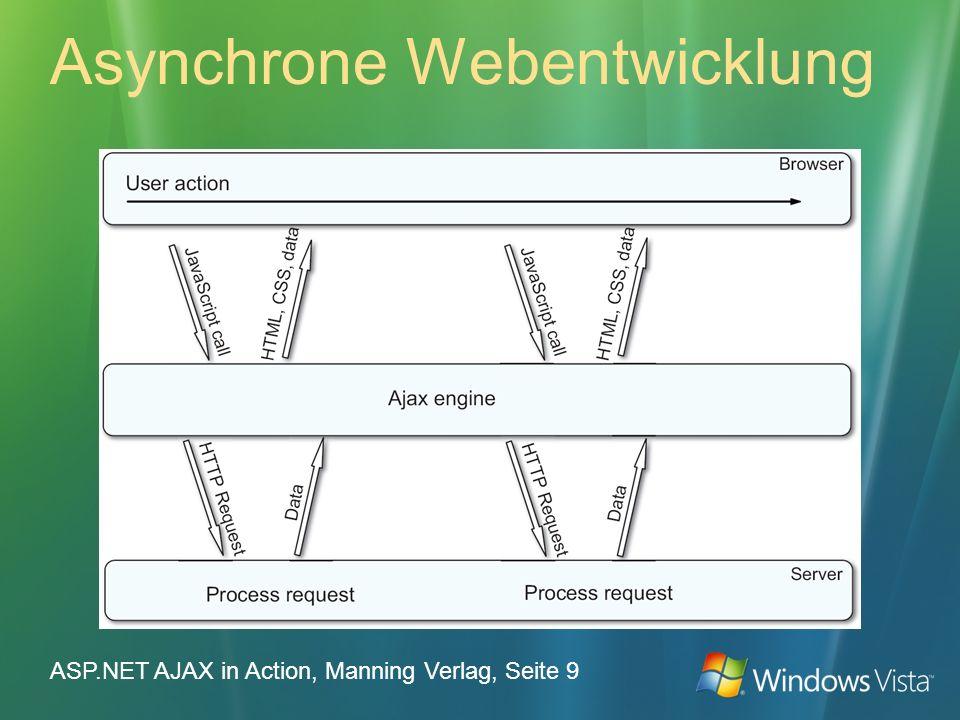 Asynchrone Webentwicklung ASP.NET AJAX in Action, Manning Verlag, Seite 9