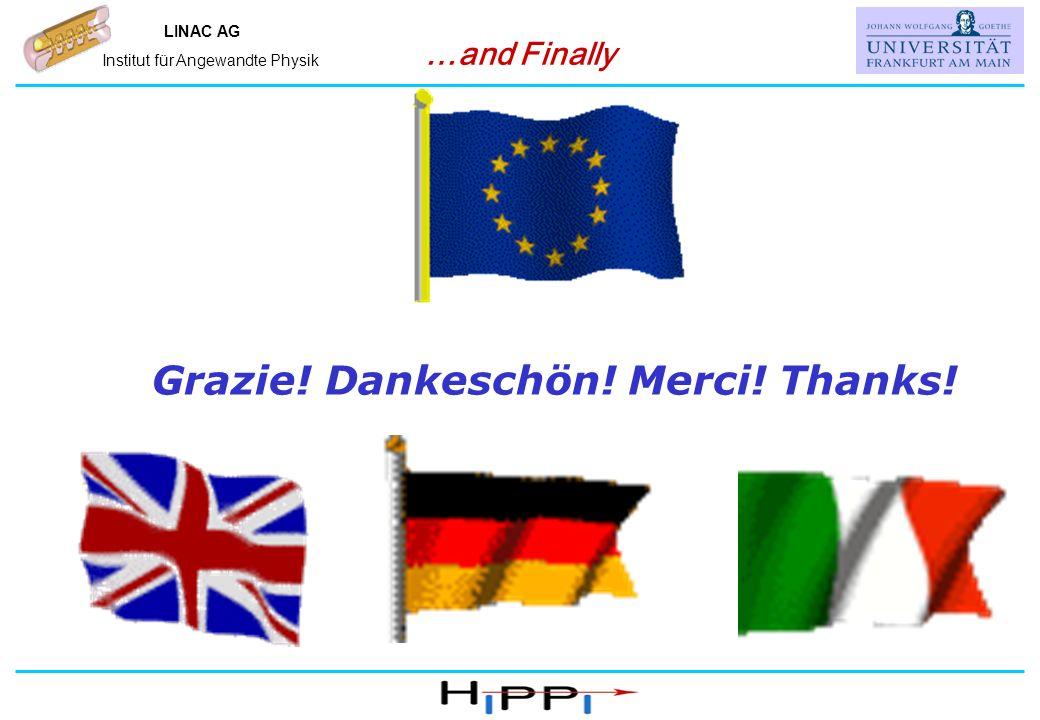 Name, IAP, Universität Frankfurt LINAC AG Institut für Angewandte Physik …and Finally Grazie.